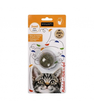 JOUET CHAT BALLE HERBE A CHAT & MATATABI