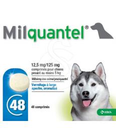 Milquantel 12,5/125 mg Chien + 5kg