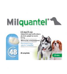 Milquantel 2,5/25 mg chiot/pt chien