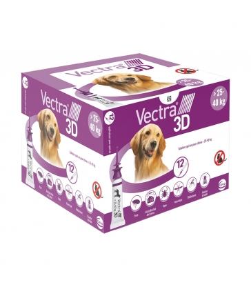 VECTRA 3D 25-40KG x 12 PIPETTES