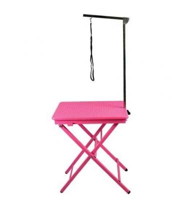 Table de toilettage pliante portable rose