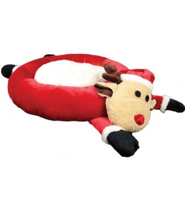 Corbeille renne de Noël 60x60 cm