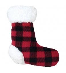 Plaid écossais et peluche chaussette Doogy