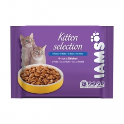IAMS KITTEN CHICKEN 4X100G