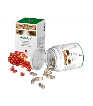 ANTI-OX Compléments alimentaires pour chiens et chats - Boîte de 30 gélules