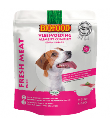 Aliment complet Canard pour Chien Biofood