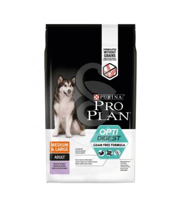 Dog Medium&Large Adult Optidigest Grain Free Dinde