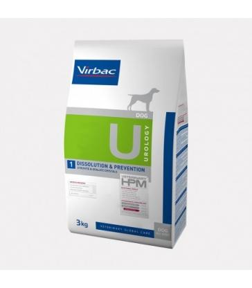 VIRBAC VET HPM CHIEN U1 Dissolution & Prevention Sac de 3 kg