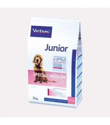 VIRBAC VET HPM CHIEN Junior Special Medium - Sac de 12Kg