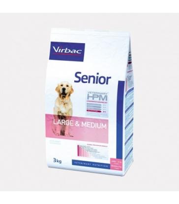 VIRBAC VET HPM CHIEN Senior Large & Medium - Sac de 12Kg