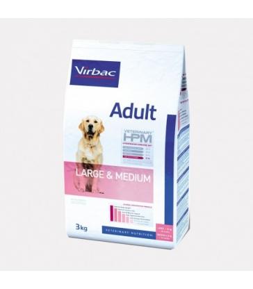 VIRBAC VET HPM CHIEN Adult Large & Medium - Sac de 16Kg