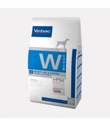 VIRBAC VET HPM CHIEN W2 Weight Loss & Control Sac de 12 kg
