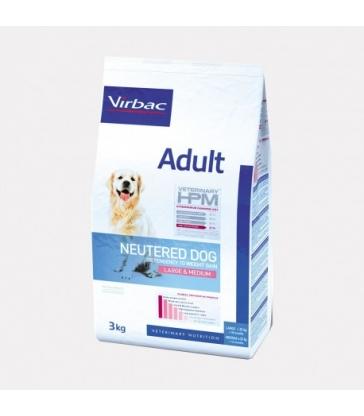 VIRBAC VET HPM CHIEN Adult Neutered Large & Medium - Sac de 16Kg