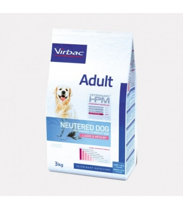 VIRBAC VET HPM CHIEN Adult Neutered Large & Medium Sac de 7 kg
