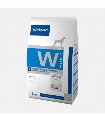 VIRBAC VET HPM CHIEN W2 Weight Loss & Control Sac de 3 kg