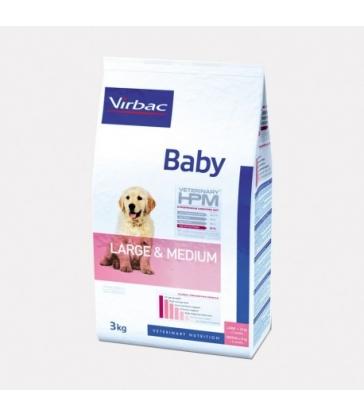 VIRBAC VET HPM CHIEN Baby Large & Medium - Sac de 12Kg