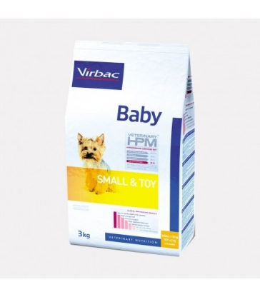 VIRBAC VET HPM CHIEN Baby Small & Toy Sac de 1.5 kg
