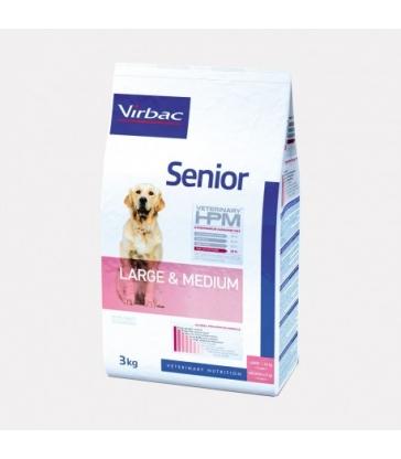VIRBAC VET HPM CHIEN Senior Large & Medium Sac de 3 kg