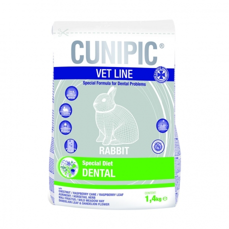 Cunipic Vet Line Rabbit Dental - Sac de 1,4kg