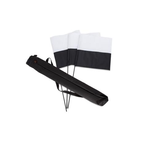 DRAPEAUX noir et blanc x3 et sac