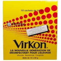 VIRKON 25 SACHETS DE 50GR