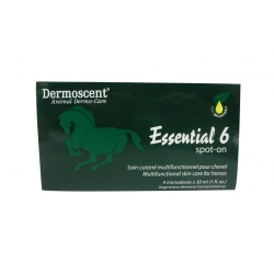 Dermoscent Essential 6 - Spot-on pour cheval - 4 flacons