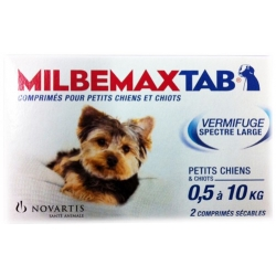 MILBEMAX TAB vermifuge chien de moins de 5 kg
