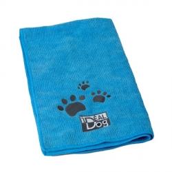 Lot de 2 serviettes Microfibre Idealdog bleues